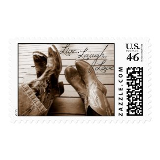Live,Love,Laugh Western stamp