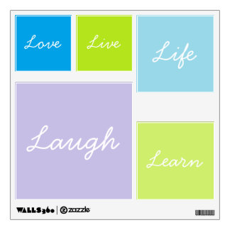 Live Love Learn Life Laugh Wall decals
