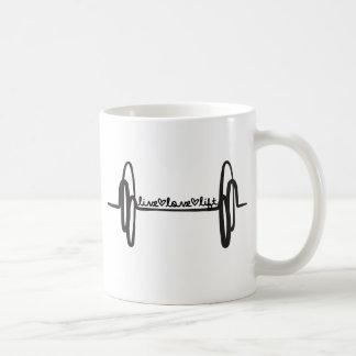 Live Love Lift Bar Black Coffee Mug