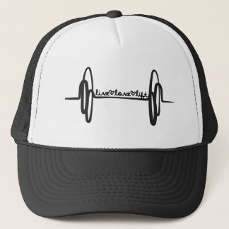 Live Love Lift Bar Trucker Hat