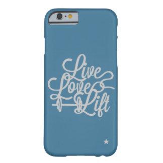 Live Love Lift Blue/Silver iPhone 6 case