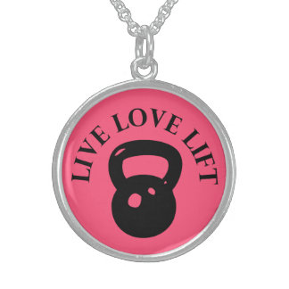 Live Love Lift - Crossfit Sterling Silver Necklaces