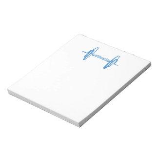 Live Love Lift Doodle Blue Notepad
