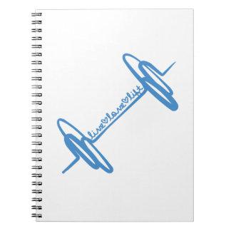 Live Love Lift Doodle Blue Spiral Notebook