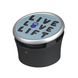 Live, Love, Lift Fitness Gym Bluetooth Speaker
