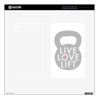 Live Love Lift Grey Kettlebell Decal For Kindle Fire