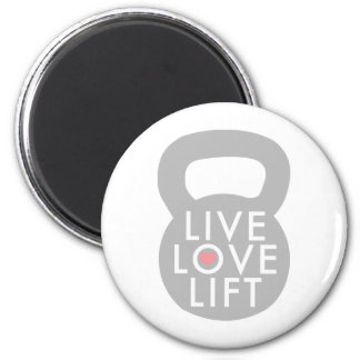 Live Love Lift Kettlebell 2 Inch Round Magnet