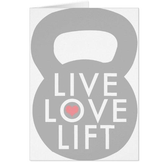 Live Love Lift Kettlebell Card