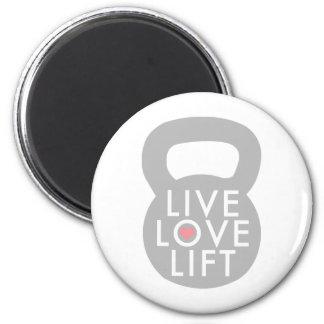 Live Love Lift Kettlebell Refrigerator Magnets