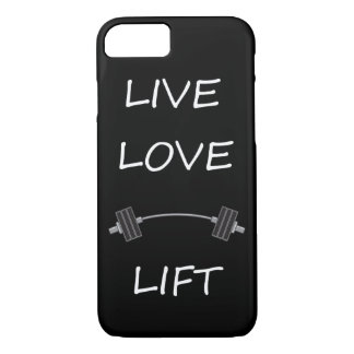 LIVE LOVE LIFT LAUGH KEEP calm and work out exerci iPhone 8/7 Case