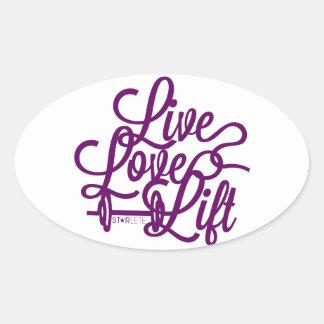 Live Love Lift Purple Stickers