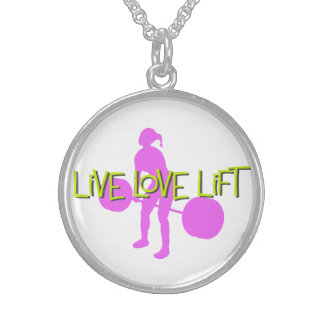 Live Love Lift - Sterling Silver Necklace