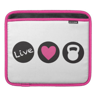 Live, Love, Lift With Kettlebell iPad Sleeves
