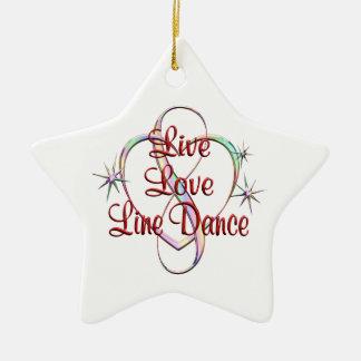 Live Love Line Dance Ceramic Ornament