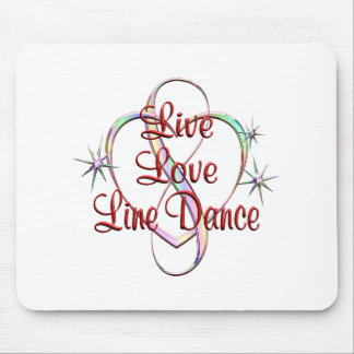 Live Love Line Dance Mouse Pad