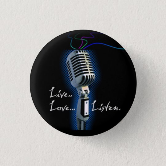 Live Love Listen - minibutton Button