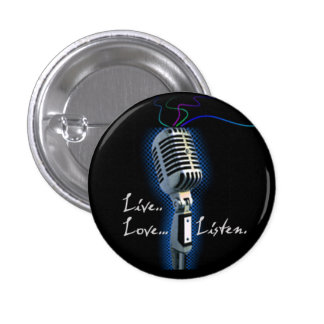 Live Love Listen - minibutton Button