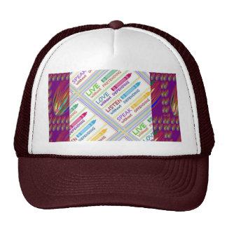 LIVE LOVE LISTEN SPEAK Enjoy LIFE - lowprice GIF Hat