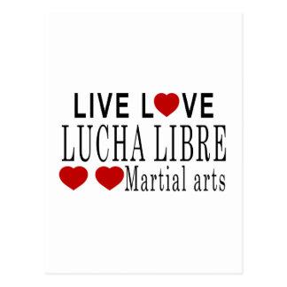 LIVE LOVE LUCHA LIBRE MARTIAL ARTS POSTCARD