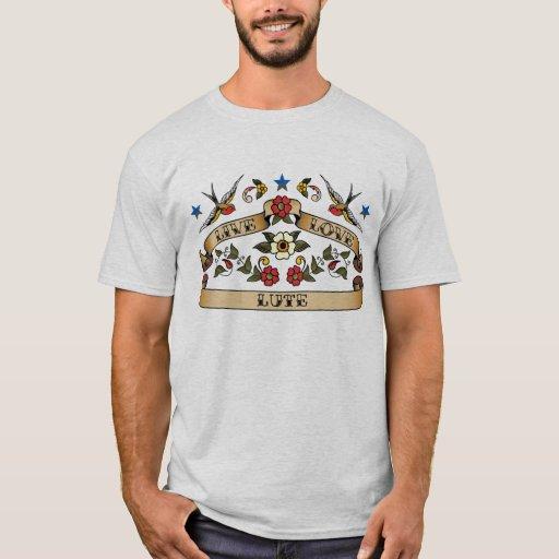 Live Love Lute Americana Tattoo Style Basic T-Shirt