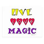 Live Love Magic Postcard