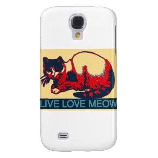 Live Love Meow 2 Samsung Galaxy S4 Case