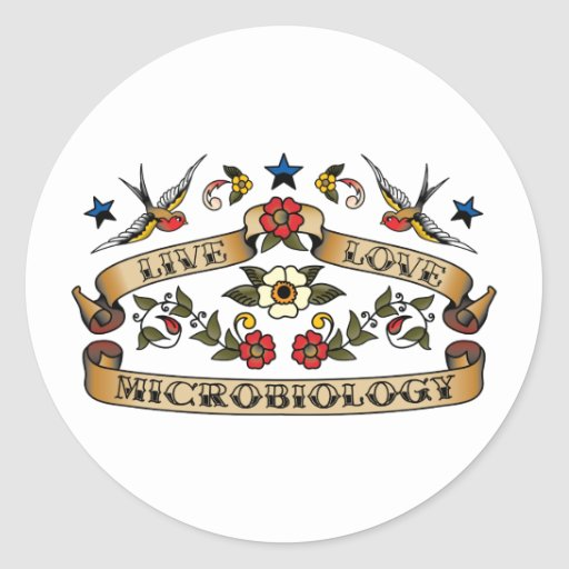 Live Love Microbiology Classic Round Sticker