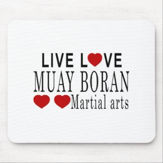LIVE LOVE MUAY BORAN MARTIAL ARTS MOUSE PAD