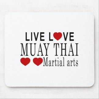 LIVE LOVE MUAY THAI MARTIAL ARTS MOUSE PAD