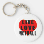Live Love Netball Keychains