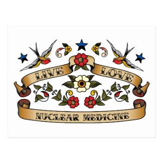 Live Love Nuclear Medicine Postcard