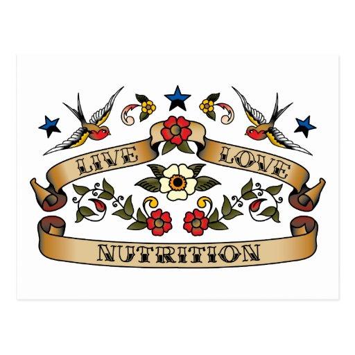 Live Love Nutrition Postcard
