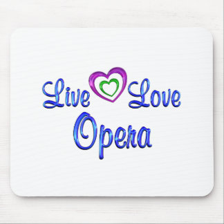 Live Love Opera Mouse Pad