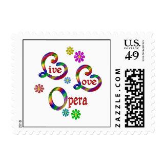 Live Love Opera Postage Stamp