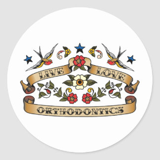 Live Love Orthodontics Classic Round Sticker