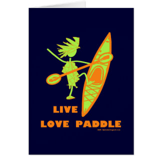 Live Love Paddle Card