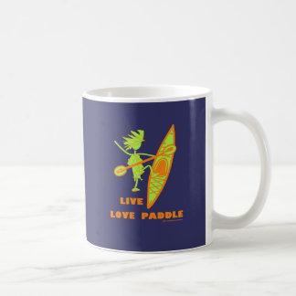 Live Love Paddle Classic White Coffee Mug