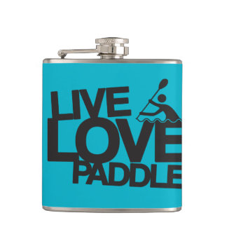 Live Love Paddle | Kayak Canoe Hip Flask