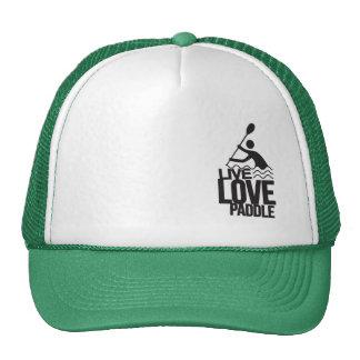 Live Love Paddle   Kayak Canoe Trucker Hat