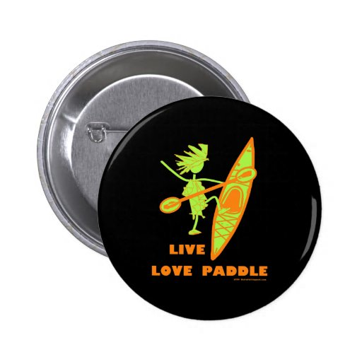 Live Love Paddle Pinback Button