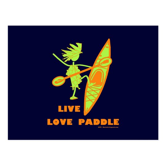 Live Love Paddle Postcard