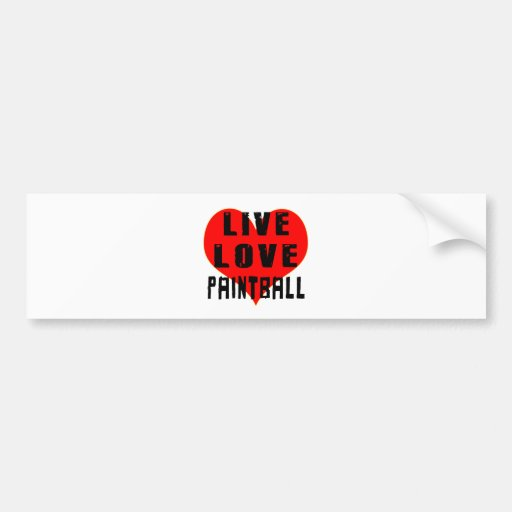 Live Love Paintball Bumper Stickers