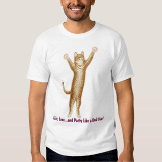 Live Love Party Cat T-Shirt