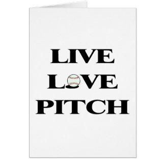 Live Love Pitch Baseball Card