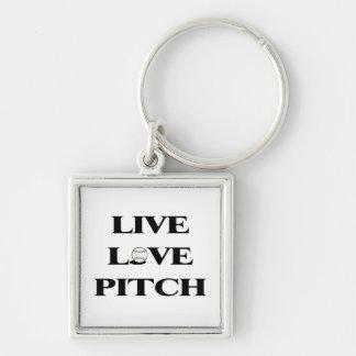 Live Love Pitch Baseball Keychain