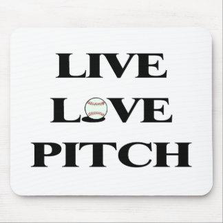 Live Love Pitch Baseball Mouse Pad
