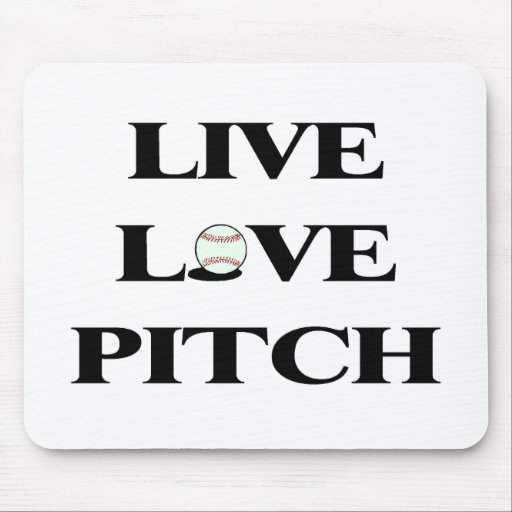 Live Love Pitch Mouse Pad