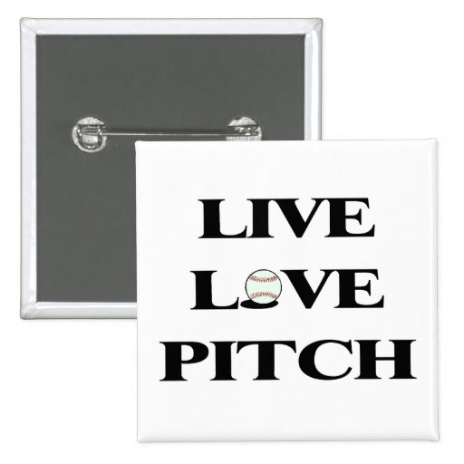 Live Love Pitch Pinback Button