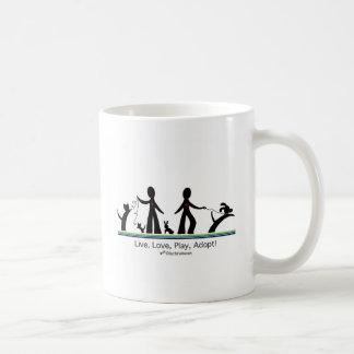 Live, Love, Play, Adopt! Coffee Mug