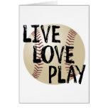 Live, Love, Play Baseball Card